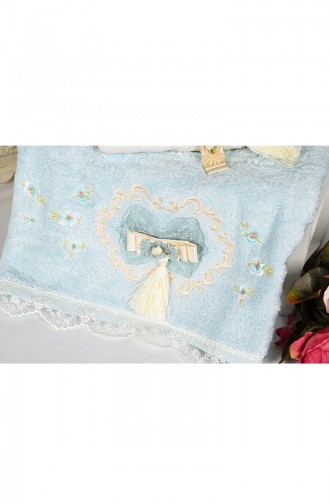 Bamboo Tasseled 50X90 Face Towel 3481-04 Blue 3481-04