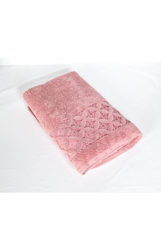 Combed Cotton Jacquard 70X140 Bath Towel 3482-01 Rose Dry 3482-01