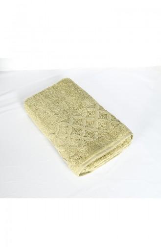 Combed Cotton Jacquard 70X140 Bath Towel 3482-02 Green 3482-02