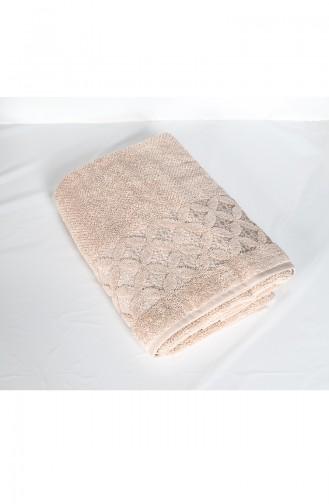 Combed Cotton Jacquard 70X140 Bath Towel 3482-03 Beige 3482-03