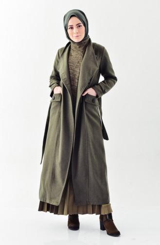 Belted Cachet Coat 4428-06 Khaki 4428-06