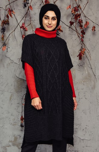 Knitwear Poncho 8052-05 Anthracite 8052-05