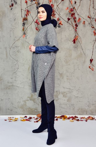Knitwear Poncho 8052-06 Dark Grey 8052-06