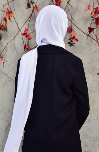 Long Châle Mousseline 50025-02 Blanc 50025-02