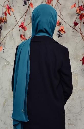 Long Chiffon Shawl 50025-100A Dark Emerald 50025-100A
