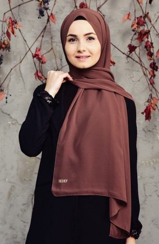 Long Chiffon Shawl 50025-139 Brown 50025-139