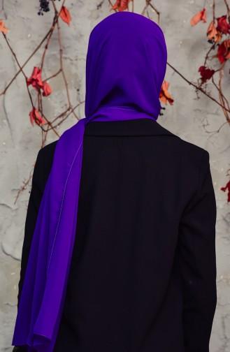Long Chiffon Shawl 50025-22 Purple 50025-22