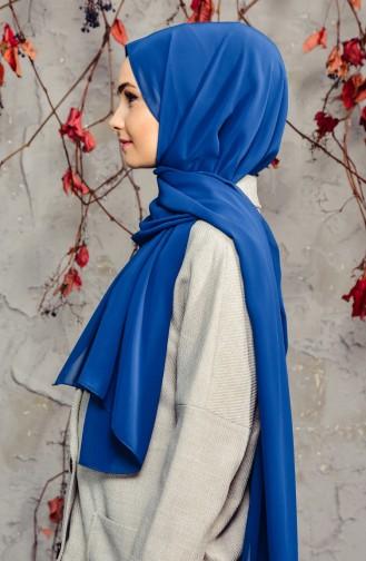 Long Châle Mousseline 50025-99 Bleu Pétrol 50025-99