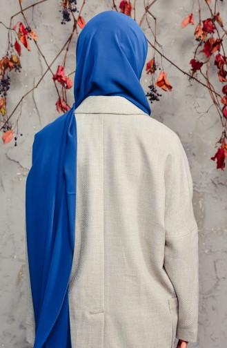 Long Chiffon Shawl 50025-99 Petrol Blue 50025-99