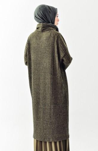 Polo-neck Long Tunic 1313-03 Khaki 1313-03