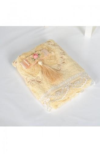 Bamboo Tasseled 30X50 Hand Towel 3444-04 Beige 3444-04