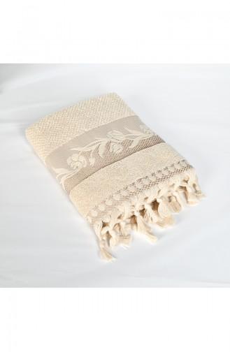Combed Cotton Jacquard 50X90 Face Towel 3448-01 Beige 3448-01