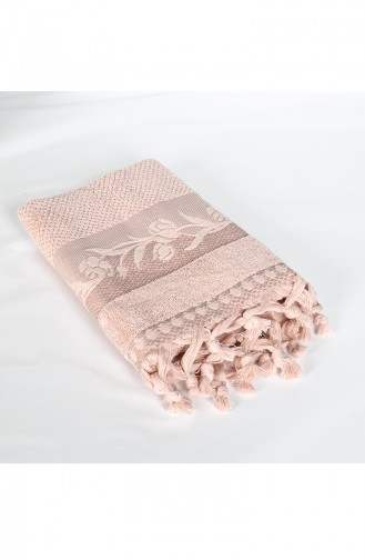 Combed Cotton Jacquard 50X90 Face Towel 3448-04 Rose Dry 3448-04