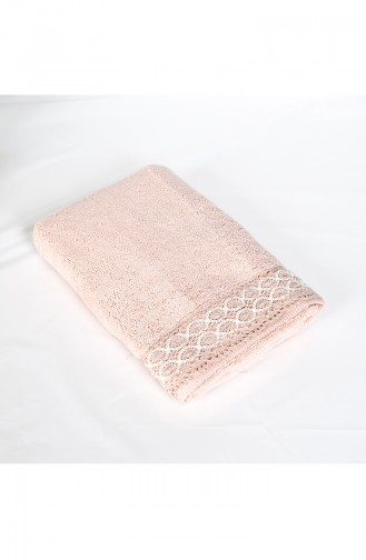 Combed Cotton Laced 50X90 Face Towel 3449-02 Powder 3449-02