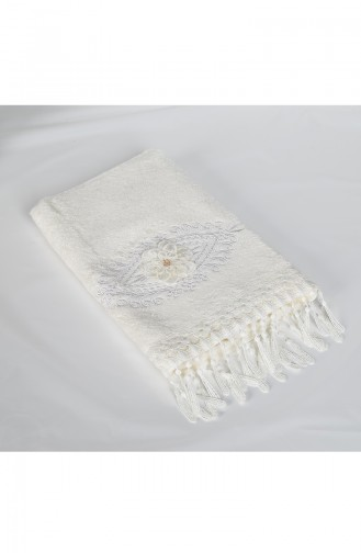 Bamboo Laced 50X90 Face Towel 3453-01 White 3453-01