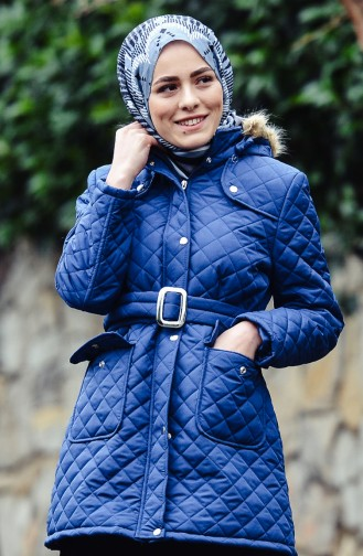 Hooded Padded Vest 0109-05 Indigo 0109-05