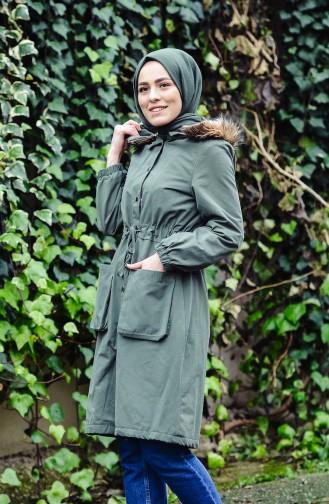 Pleated Waist Coat 1003-04 Green 1003-04