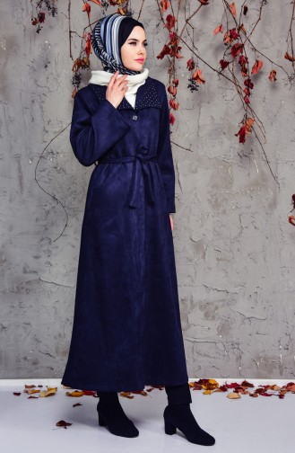Navy Blue Trench Coats Models 7815-03