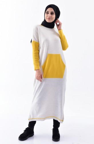 Knitwear Long Sweater 4698-01 Beige 4698-01