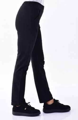 Sweatpants with Pocket 1341-02 Black 1341-02