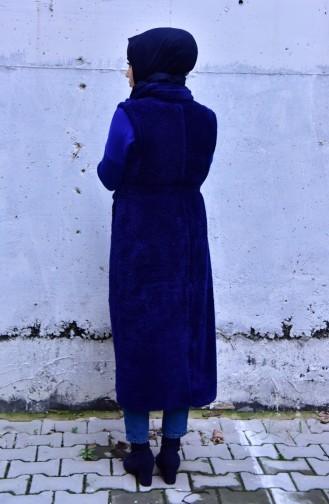 Sefamerve Gilet Sans Manches 8101-01 Bleu Marine 8101-01