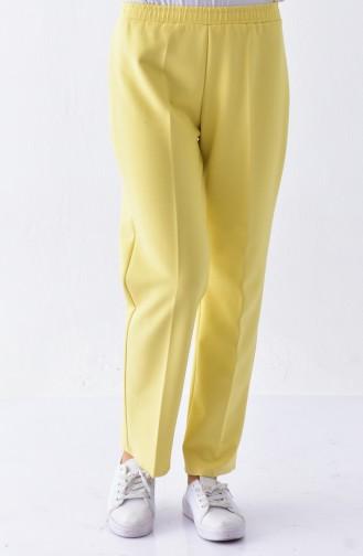 DURAN Elastic Waist Pants 2050-04 Yellow 2050-04