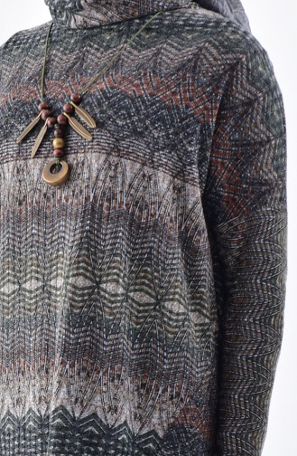 Kolyeli Tunik Pantolon İkili Takım 1927360-903 Gri Haki
