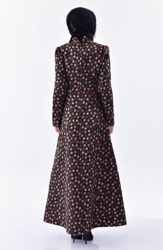 Claret red Dress 7210-01