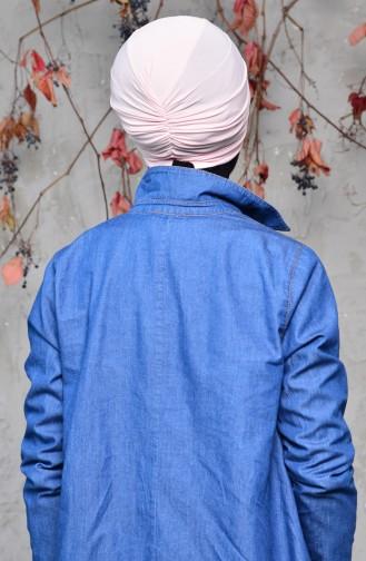 Fertige Bonnet mit Knoten 0027-07 Lachs 0027-07