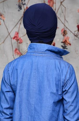 Bonnet a Noeud 0027-08 Bleu Marine 0027-08