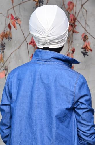 Fertig Bonnet 0027-19 Gebrochen weiss 0027-19