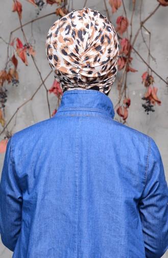 Gemustertes Knoten Bonnet 0029-04 Schwarz 0029-04