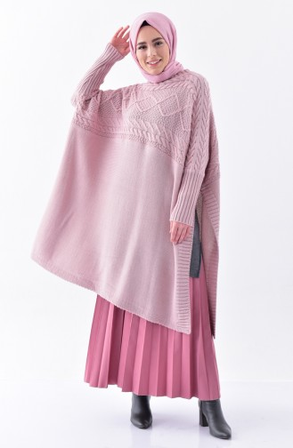 iLMEK Knitwear Bat Sleeve Poncho 4108-05 Powder 4108-05