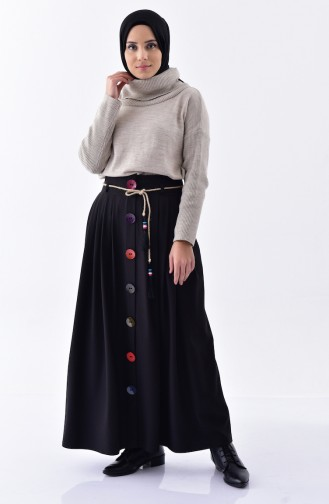 Pleated Skirt 0519-01 Black 0519-01