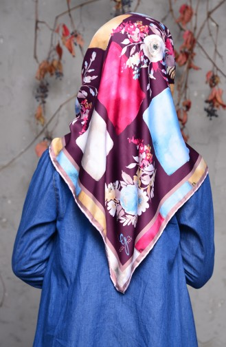 Patterned Rayon Shawl 70087-08 Damson Dusty Rose 70087-08