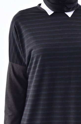 CAVANE Striped Long Tunic 7361-01 Smoked 7361-01