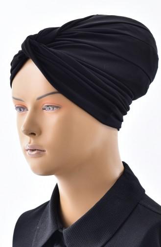 Bonnet Prêt avec Noeud 0027-01 Noir 0027-01