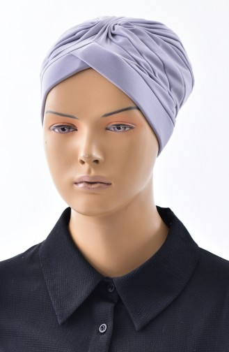 Doppelseitiger Bonnet 0028-05 Hellgrau 0028-05
