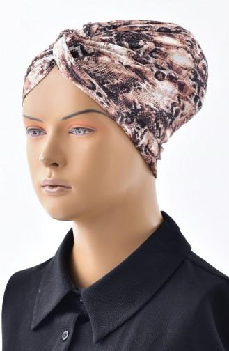 Bonnet a Motifs et Noeud 0029-05 Brun 0029-05