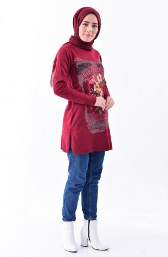 Claret red Sweater 2089-04