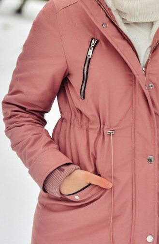 Hooded Padded Cote 6007-01 Rose Dry 6007-01