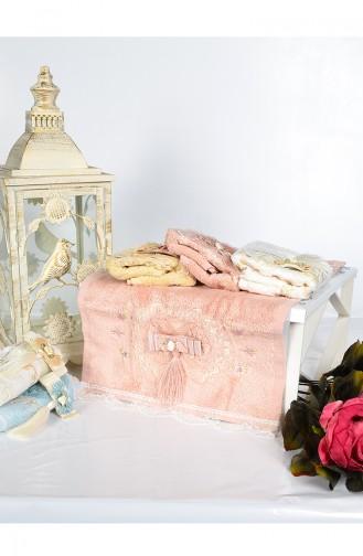 Bamboo Tasseled 30X50 Hand Towels 3444-03 Rose Dry 3444-03