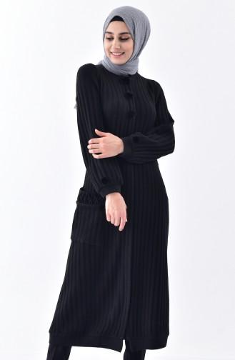 Cepli Triko Hırka 35878-04 Siyah