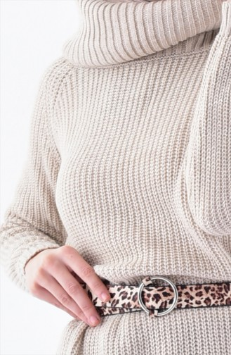 Pull Tricot Col Roulé 4023-01 Creme 4023-01