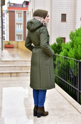 Hooded lined Coats 15043-03 Khaki 15043-02