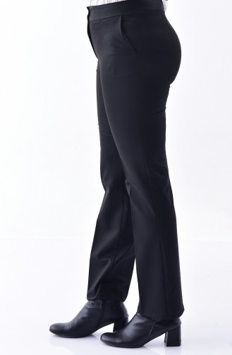 Pocket Plain Leg Trousers  2062A-01 Black 2062A-01