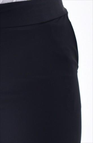 Gerade Hose mit Tasche 2062A-01 Schwarz 2062A-01
