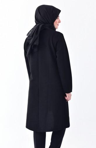 Plus Size Asymmetric Tunic 2193-02 Black 2193-02