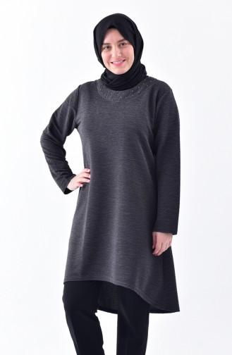 Plus Size Asymmetric Tunic 2193-07 Smoked coloured 2193-07