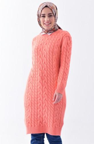 Knitwear Knit Pattern Tunic 8082-07 Salmon 8082-07